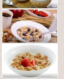 MT70全自动玉米片早餐谷物生�v产线燕麦片大麦片膨化食品生@ 产设备