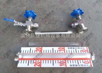 液位计X49W-16P温州厂家批发不锈钢快装式玻璃管液位计