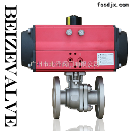 DN65廣州番禺  DSD65氣動不銹鋼法蘭球閥 氣動執行器 氣動法蘭球閥