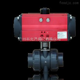 BZ-33广东气动塑料球阀 微型耐高温气动球阀