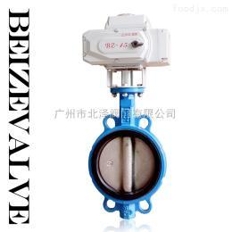 D971XP广州电动开关软密封蝶阀 电动铸铁蝶阀 普通版对夹蝶阀