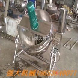 200供应强 电加热夹层锅 阿胶熬煮锅 带搅拌可倾械夹层锅