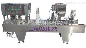 BHP-4BHP-4全自动果汁酸奶灌装封口机(片膜封口)