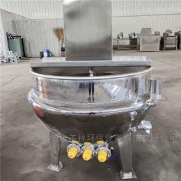 JM-500熬糖带搅拌夹层锅特点