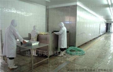 JM-500厂家直销水果蔬菜隧道式速冻机 高效不粘连