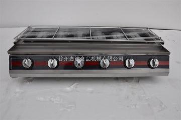 六排多功能燒烤機