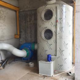 PLT-5000水噴淋廢氣凈化塔除酸堿脫硫除塵設備
