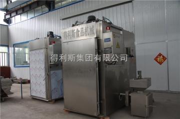 YXL-500牛肉干烟熏烘干烟熏炉 得利斯