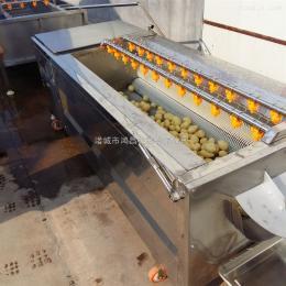 土豆毛刷清洗机/山药去皮清洗设备