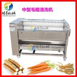 不銹鋼自動毛輥清洗機 紅薯土豆清洗脫皮機
