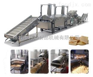 鱿鱼圈油炸生产线蚕豆花生米油炸生产线