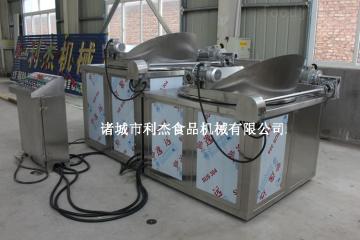 供应 利杰锅巴油炸机 自动搅拌油水混合油炸机全不锈钢制作