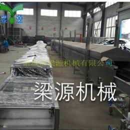 全自動連續網帶式肉排蒸汽生產線 大型蒸線