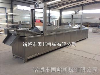 GB-600大型食品厂油炸生产线 连续式油炸生产线 山东油炸机生产基地