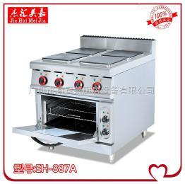 EH-887A立式電熱四頭煮食爐連焗爐