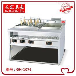GH-1076立式喷流式燃气六头煮面炉带汤池
