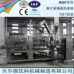 RGF 14-12-5果汁饮料灌装生产线全自动玻璃瓶瓶装饮料灌装机组