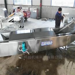 黄瓜蒸煮漂烫流水线 叶菜加工设备 青菜清洗杀青机