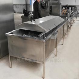沙果清洗机 烟台苹果清洗机 连续式气泡清洗流水线