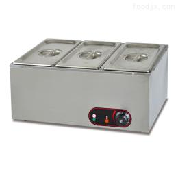 EH-3富祺不锈钢台式三盆电热保温汤池