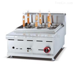 GH-588商用立式燃气六头煮面炉