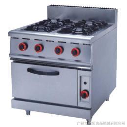 GH-987A富祺落地式燃氣四頭煲仔爐連焗爐