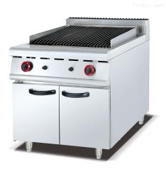 GB-989落地式燃氣火山石燒烤爐連柜座立式組合爐