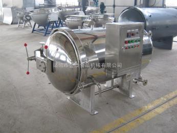 900-1800全不锈钢半自动黄花鱼罐头淋水式杀菌设备