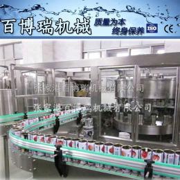 12-1n2086猴头菇植物饮料液体自动灌装封口生产线 全自动易拉罐灌装机BBR-1117