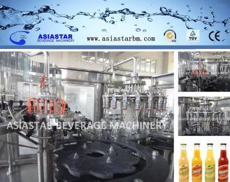 BBR-18-18-6果汁饮料灌装机玻璃瓶灌装生产线玻璃瓶灌装设备液体食品包装机液体包装机BBR-2234
