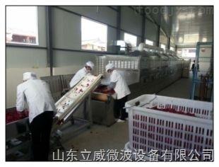 膨化食品烘干殺菌設備立威微波設備隧道式微波烘干殺菌設備