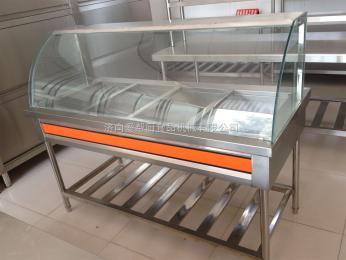 供應愛幫廚牌廚房設備不銹鋼帶罩四格保溫售飯臺