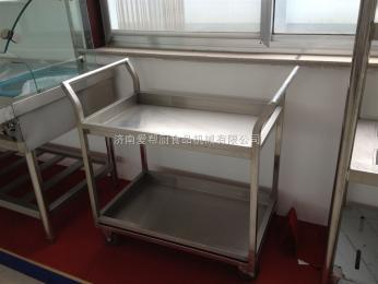 厂家供应厨房设备不锈钢双层餐车、手推车