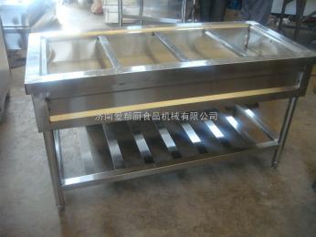 供應愛幫廚設備不銹鋼四格保溫售飯臺