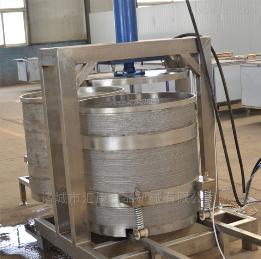 YZ-200L橙子压榨机 双桶液压压汁设备