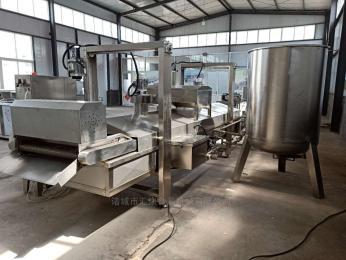 YA-1500型多功能油炸机、薯条油炸机、虾片油炸机、自动出料油炸机