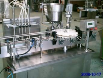 厂家直销直线式4头液体自动灌装理旋轧盖机