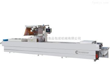 康贝特牌DRZ-420型河北玉米棒鲜玉米全自动连续拉伸真空包装机