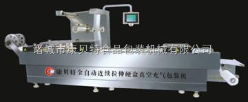 520A型自動連續拉伸伺服噴碼食品真空包裝機