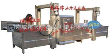 WYZ-4000节能油炸生产线,节能油炸流水线