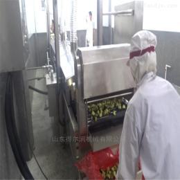 黑龍江鍋包肉油炸機 里脊肉片油炸流水線
