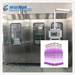 DCGF18-18-6含气饮料生产线 小型汽水生产灌装设备 玻璃瓶装含气饮料灌装机