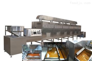 牛肉干烘干杀菌设备,微波隧道炉