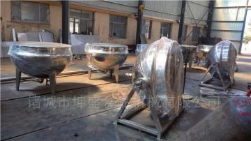 KS-600福建蒸煮设备 蒸汽式可倾斜蒸煮夹层锅