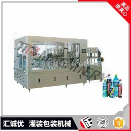 DCGF16-16-6碳酸飲料灌裝機,全自動三合一飲料灌裝機,含氣飲料灌裝機