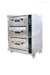 JMBC306山东商用烘焙设备三层电烤箱青岛生产设备蛋糕饼房面包房用JMBC306