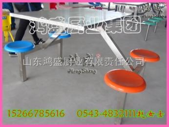 伊春市帶嶺區食堂餐桌椅廠家,學校不銹鋼4人連體餐桌椅價格