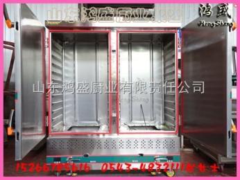 湛江市麻章区多功能燃气米饭蒸柜,双门24盘奶黄包蒸饭车