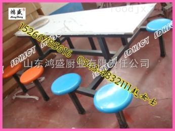 漢中市寧強縣學校食堂不銹鋼餐桌椅廠家,學生8人連體餐桌椅定做