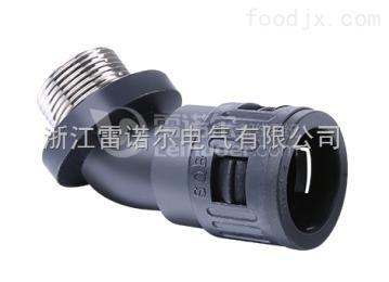 LNE-WM45度金属螺纹接头 45度金属螺纹尼龙软管接头
